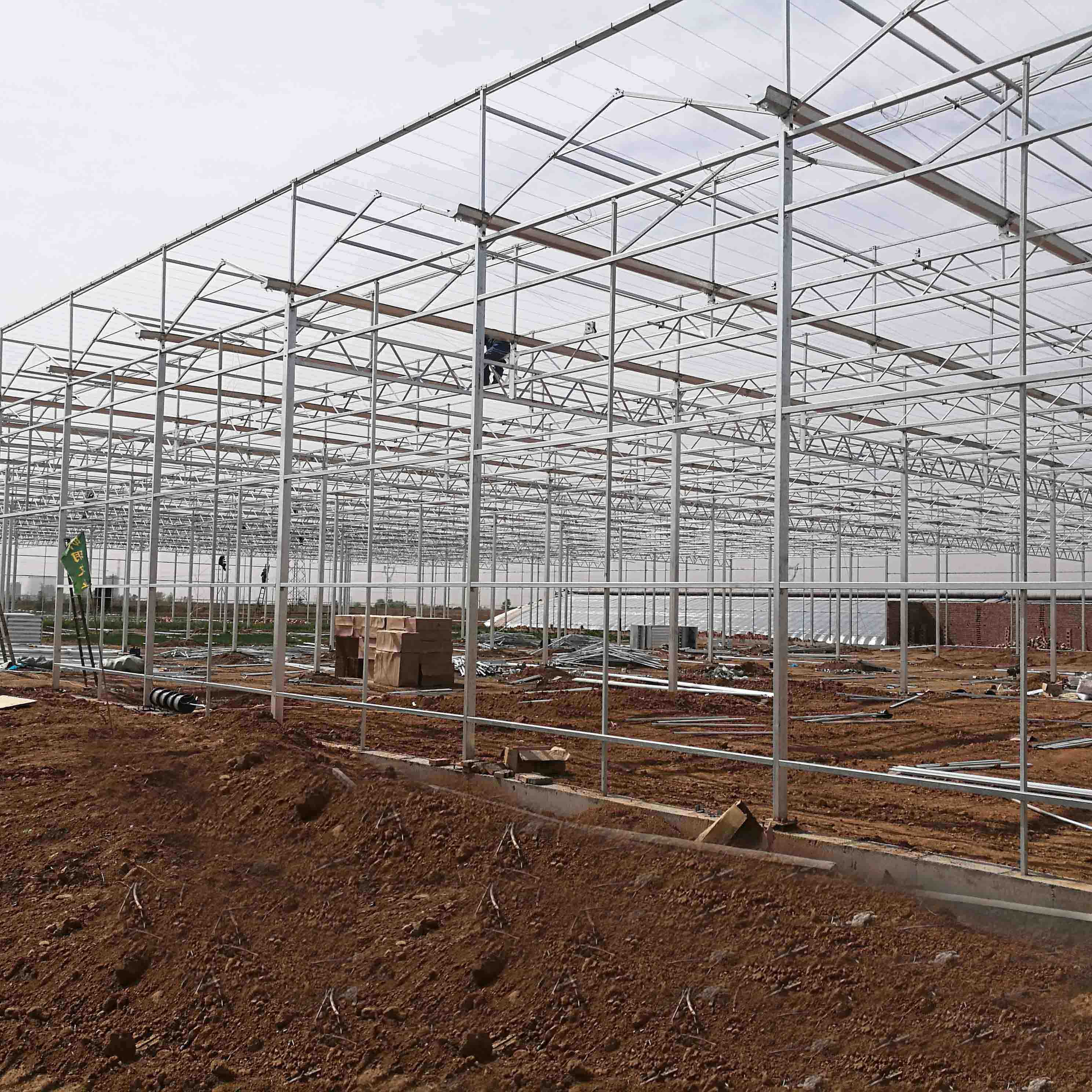 20 Years Lifetime Hot Dip Galvanized Steel Structure for Greenhouse
